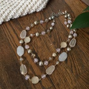 Ann Taylor Double-Strand Mixed Media Necklace